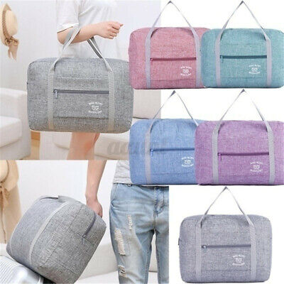 Portable Waterpoof Travel Luggage Baggage Storage Carry-On Duffle Bag Foldable *