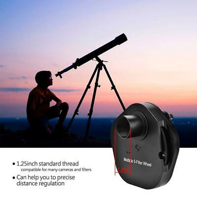 """1.25"""" Eyepiece 5 Position Manual Filter Wheel T2 Camera Adapter for Telescopes"""