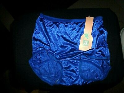 M 6 NWT Vintage JC Penney ADONNA Silky Shimmer Nylon Panties Full Cov Brief