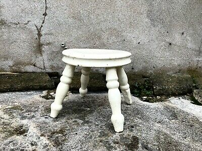 Rustic Antique Farmhouse Wooden Milking Stool