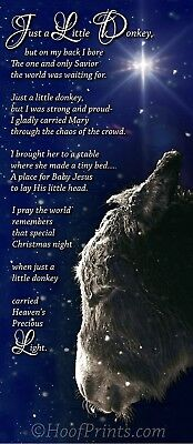 """Just a Little Donkey Christmas Cards """"I gladly carried Mary through the chaos..."""