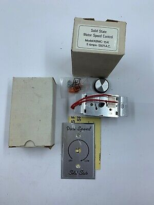KB Electronics Solid State Variable Speed Motor Control 6 Max amps 115 Volts