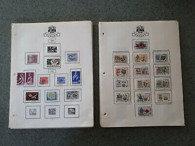1873 through 1984 Canadian Stamp Collection, 69 pages