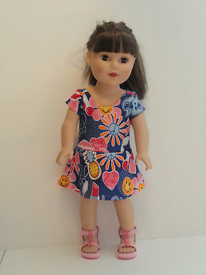 """Hearts /& Flowers Knit Dress for 18/"""" Doll American Girl Doll Clothes"""