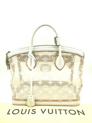 Authentic Louis Vuitton Monogram Transparence Lockit MM