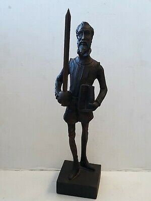 Ouro Artesania Don Quixote Folk Art Carved Wooden Figure No. 581 Made in Spain