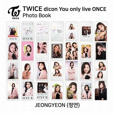 TWICE x dicon You Only Live ONCE Card Photo Book Postcard Jeongyeon KPOP K-POP