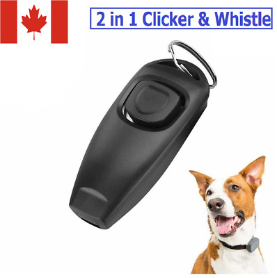 Pet Dog Click Clicker Training Whistle 2 in 1 Train Obedience Behavior Guide