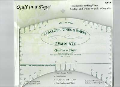 Quilting Ruler Template Scallops Vines & Waves