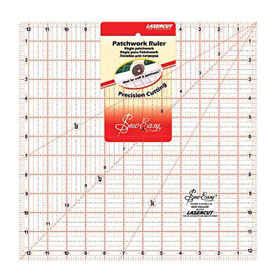 Quilting Patchwork Sewing Template LARGE SQUARE 12.5x12.5 Inch Sew Easy NL4178