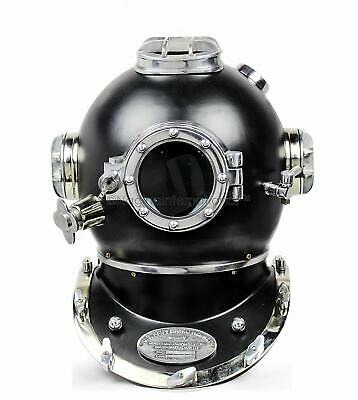 Nautical Black Antique Scuba SCA Taucherhelm der US Navy Mark V.