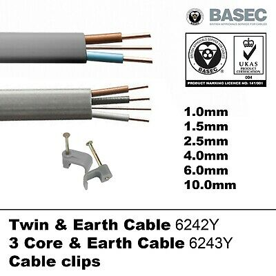 OFFER Twin and Earth T&E Cable 3 Core & Earth Wire Electric Socket Cooker