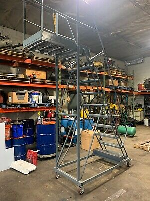 """ballymore lift Cantilever Rolling Staircase Cl-42-10 142"""" 42"""" Platform Steps"""