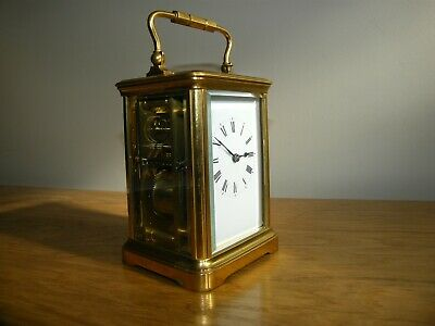 Nice condition French 5 glass carriage clock with repeat function. Excellent