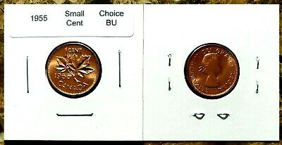 Canada 1955 Small Cent UNC Choice BU Red Penny!!