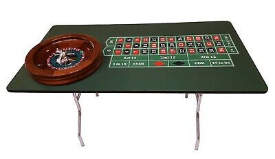 60 Inch Roulette Table & 19 Inch Mahogany Roulette Wheel  Made in USA  ACEM