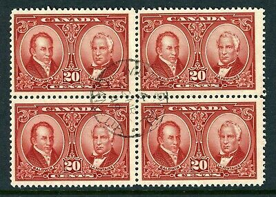 CANADA Scott 148 - USED - BLK of 4 - 20¢ Historical Issue (.016)