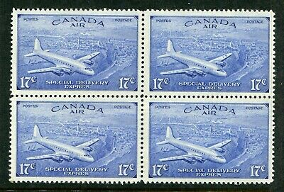 CANADA Scott CE3 - NH - BLK of 4 - 17¢ Air Mail Special Delivery (.003)