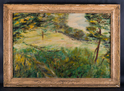 "Early 20th Century American Impressionist Oil Painting ""The Little Meadow"""
