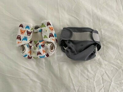 2 Newborn Cloth Diaper Covers (Thirsties/Bumkins)