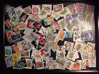 1000 Great Britain QE II used commemoratives all different off paper free post.