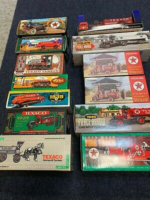 Lot of 13 Texaco-Ertl Diecast Truck Banks NIB