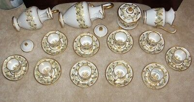 Antique 19thC Naples Real Fabbrica Ferdinandea Porcelain Service Set Italian
