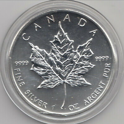 2012 Canadian Silver Maple Leaf, 1 oz, .9999 pure, in airtight capsule