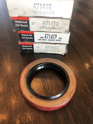 "Oil and Grease Seal 1.575/""x 2.126/""x 0.394/"" Inch Rubber Covered Double Lip w//Gart"