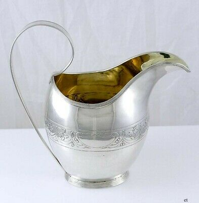 1818 Danish Silver Arts & Crafts Style Berry Creamer Pitcher