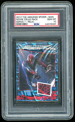 Amazing Spider-Man Movie 2012 Rittenhouse Red Set (7 Relic + 9 Card Set) Psa 10