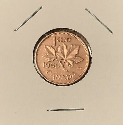 1955 - Canadian Small 1 Cent - Penny