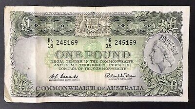 Coombs Wilson 1 Pound £1 Australian PreDecimal Paper Note Ungraded (301) C of A