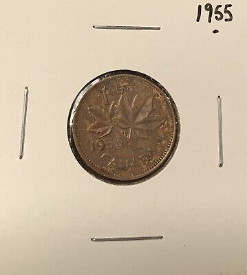 1955- Canadian Small 1 Cent - Penny