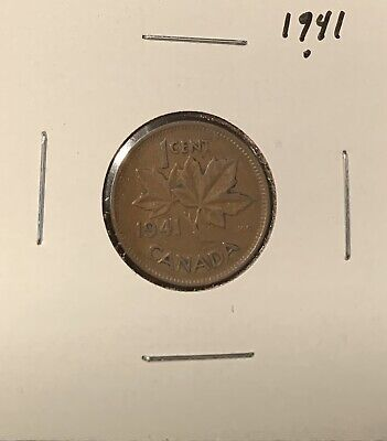 1941 - Canadian Coin - Small One Cent - Penny - Canada