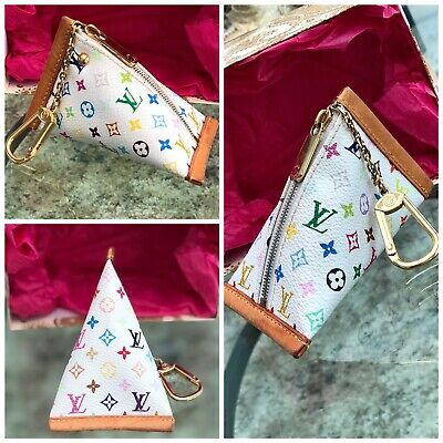 Louis Vuitton X Tekashi Murakami Multicolor Key Ring Coin Pouch AUTHENTIC!