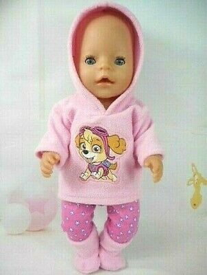 """Dolls clothes for 17"""" Baby Born doll~PAW PATROL SKYE PINK HOODIE~LEGGINGS~BOOTS"""