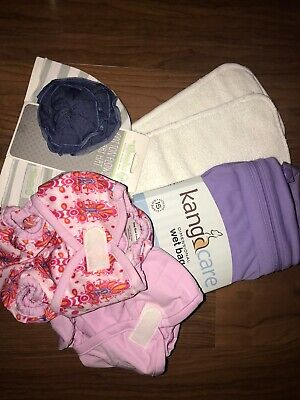 Girl 6 Piece Cloth Diaper Lot NEW WITH TAGS