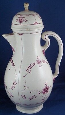 Antique 18thC Frankenthal / Zurich Porcelain Coffee Pot Porzellan Kanne 1770