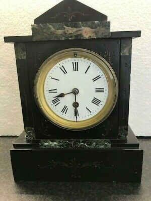 Antique/Vintage Slate & Marble Mantle Clock