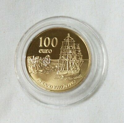 1997 Finland 100 Euro Aland Gold Proof Coin