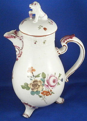 Antique 18thC Ludwigsburg Porcelain Coffee Pot Porzellan Kaffeekanne Kanne