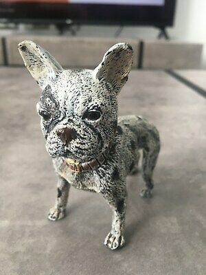French Bulldog Bergman Cold Painted Bronze Dog Foundry Mark Rare