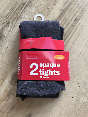 Girls Grey 60 Denier Opaque Tights. Age 13. One Pair New