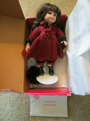 """MARIE OSMOND 9"""" Doll w Stand / Mint in Orig Box / Porcelain /"""