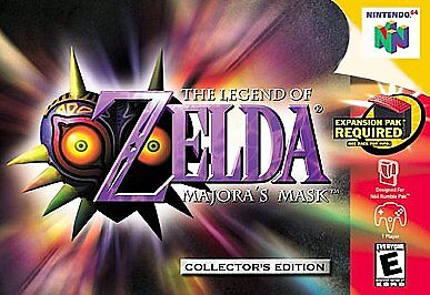 Legend of Zelda: Majora's Mask Nintendo 64 N64 excellent condition