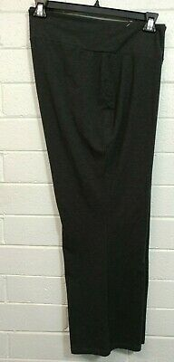 PETITE Woman AVENUE PULL UP PANTS Size 26/28 Gray charcoal color Stretch Flat