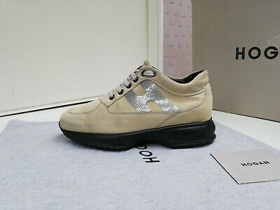 SCARPE HOGAN N.35,5 ORIGINALI INTERACTIVE  DONNA Women SHOES Beige con Strass