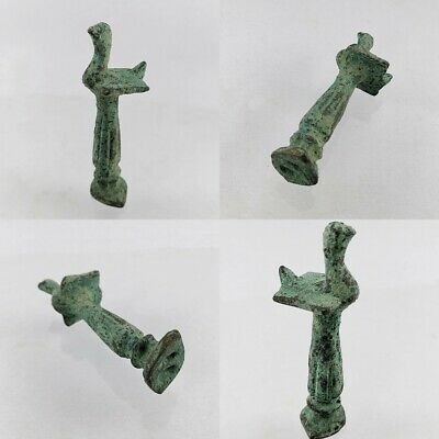 Greco Bactrian Ancient Bronze Rare Bird Statue for Good Luck #370