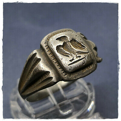 ** EAGLE - AQUILA** ancient  LEGIONARY SILVER Roman ring !II 7,82g